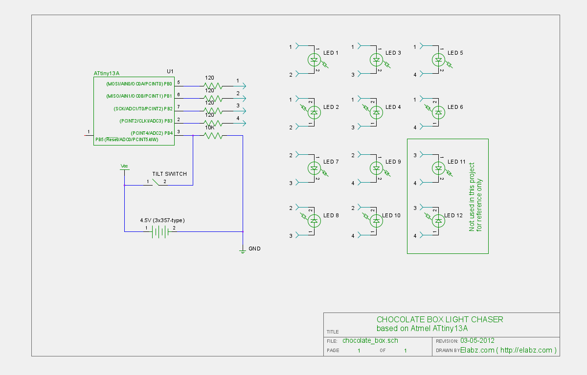hight resolution of circuit schematics for the attiny charlieplexed led chocolate box project