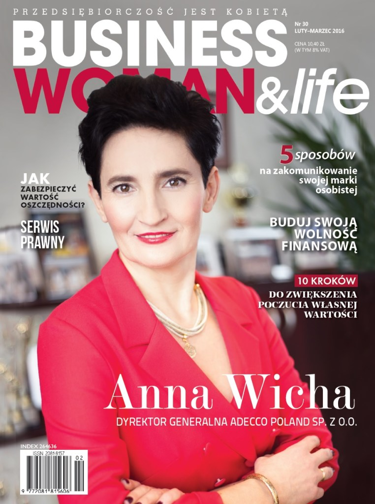 okladka magazynu businesswoman&life fotograf ela chabierska