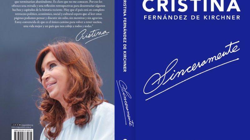 """Cristina lanza su libro «Sinceramente"""""""