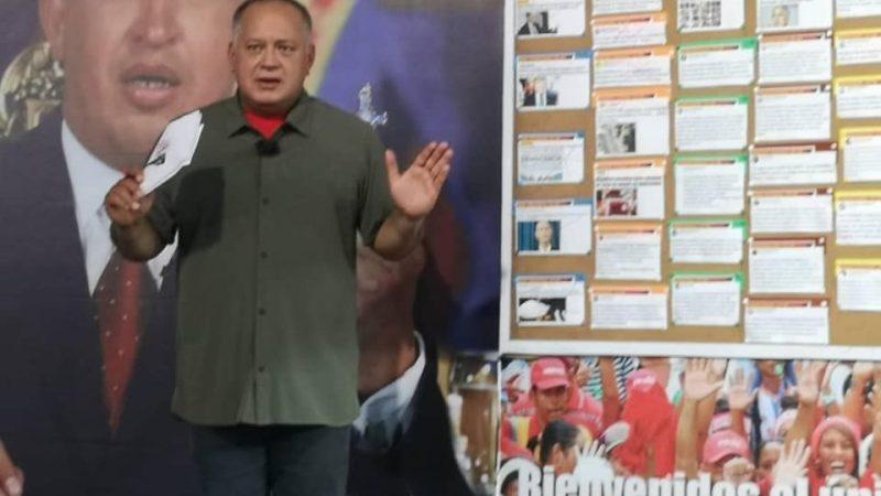 Diosdado Cabello alertó a Alberto Fernández