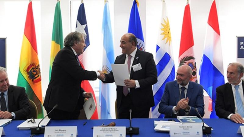 Los puntos de la declaración de intenciones entre ZICOSUR y la OEA
