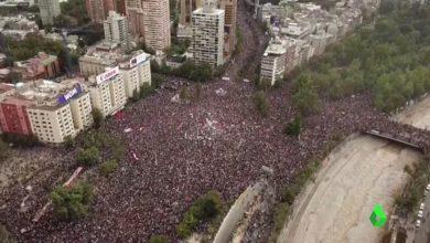 Photo of Multitudinaria marcha en Chile