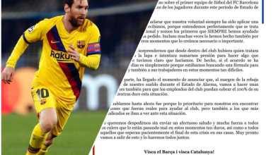 Photo of Messi aceptó un recorte del 70% en su sueldo