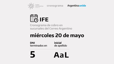 Photo of 1.314.446 cobran hoy el IFE por Correo: DNI terminados en 5 y apellidos de la A la L
