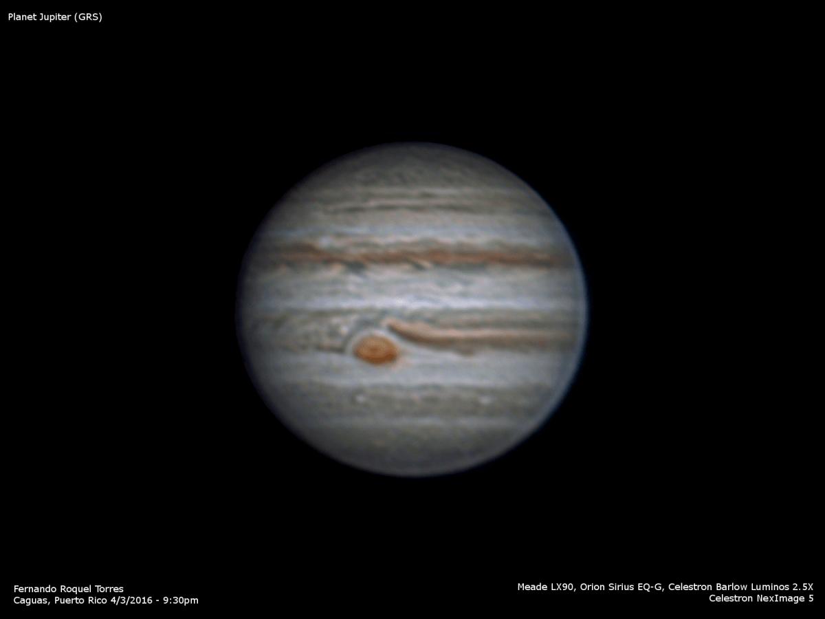 Esta noche la Luna y Júpiter en conjunción
