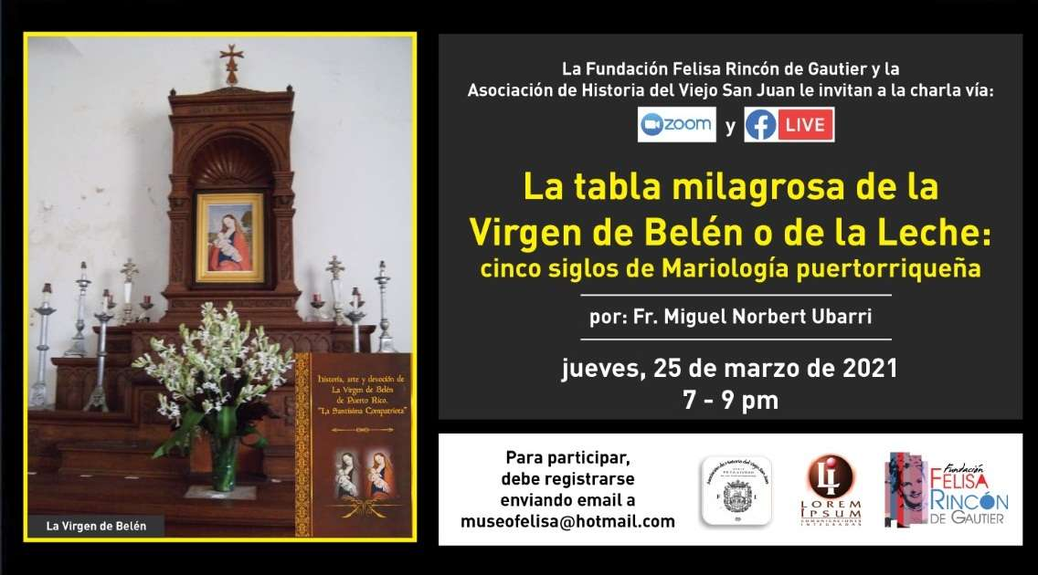 La tabla milagrosa de la Virgen de Belén o de la Leche