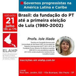 21 de julho – Brasil: da fundação do PT até a primeira eleição de Lula (1980-2002)