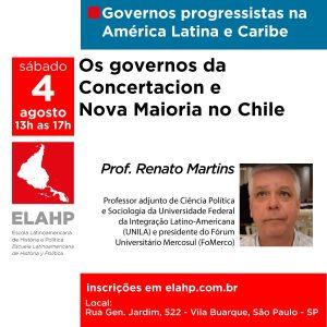 Read more about the article Os governos da Concertacion e Nova Maioria no Chile, com o professor Renato Martins