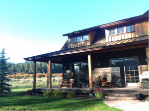 cabin back deck