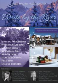 write by river winter retreat