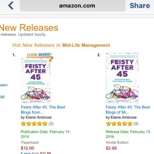 Feisty ranked Feisty #1 and #2 on amazon