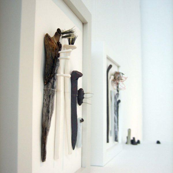 Elaine Bolt brushes frames