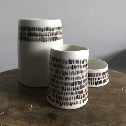 Elaine Bolt Ceramics - Warp and Weft vessels