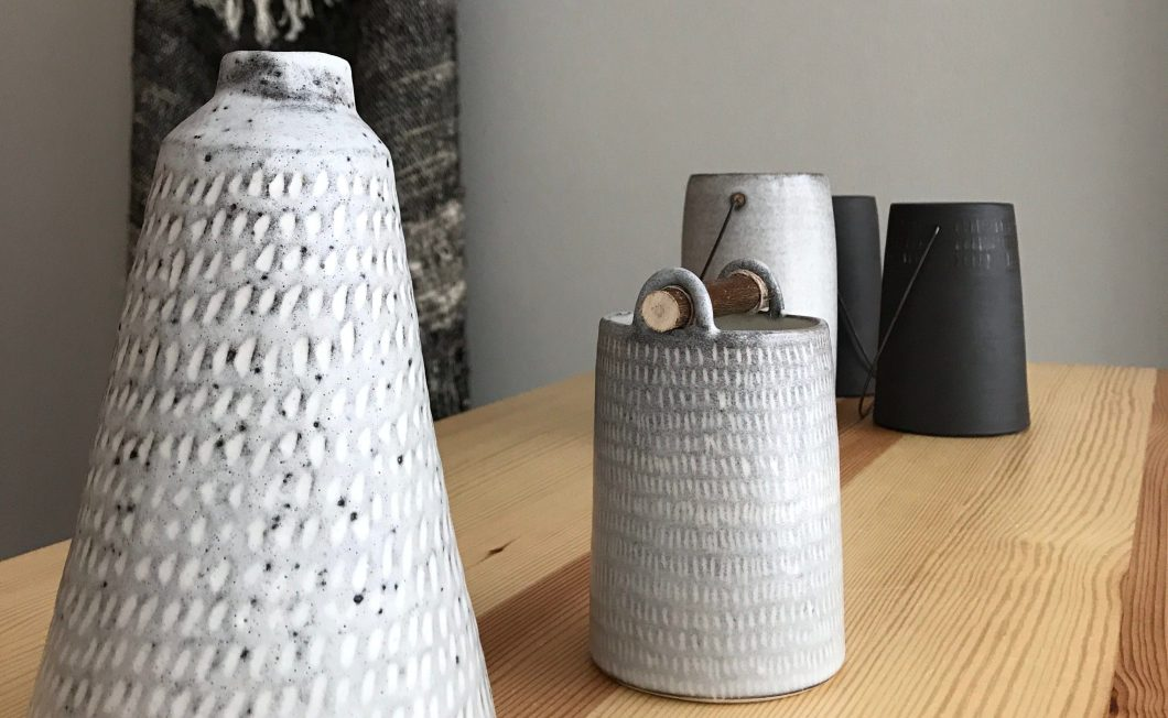 Weft vessels by Elaine Bolt