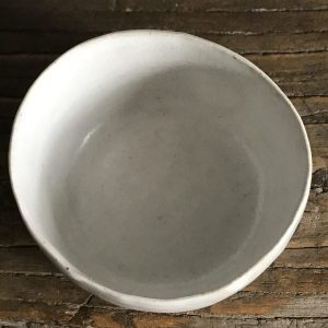 Elaine Bolt - Stone White pinch pot 1