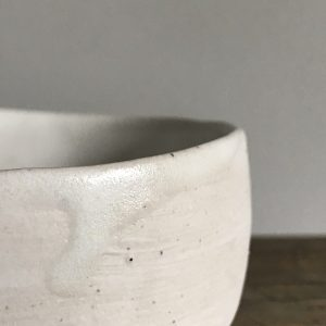 Elaine Bolt - Stone White pinch pot 2