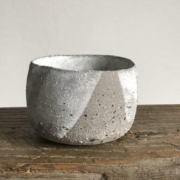 Elaine Bolt - Stone Grey pinch pot 1
