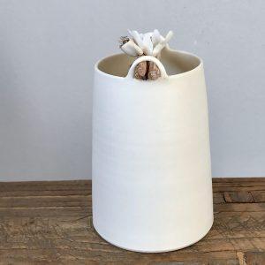 Elaine Bolt Woodland vessel (White petal)