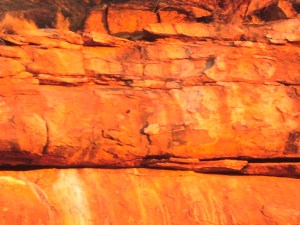 Walga Rock wind and rain water erosion ' peeling off ' slabs of granite.