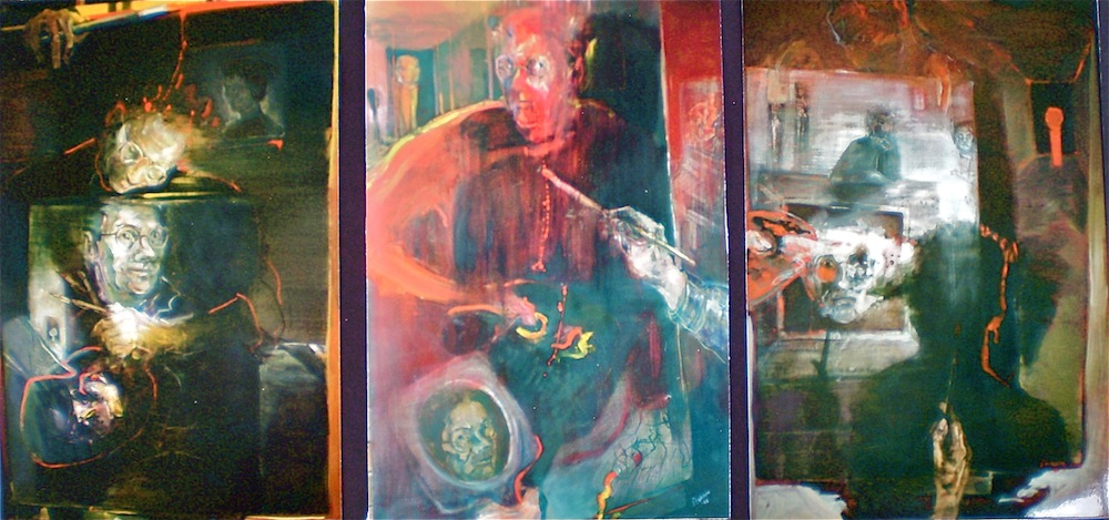 Behind the Mask of Medusa, 1996 - 7, 125x252 cm, oil on canvas