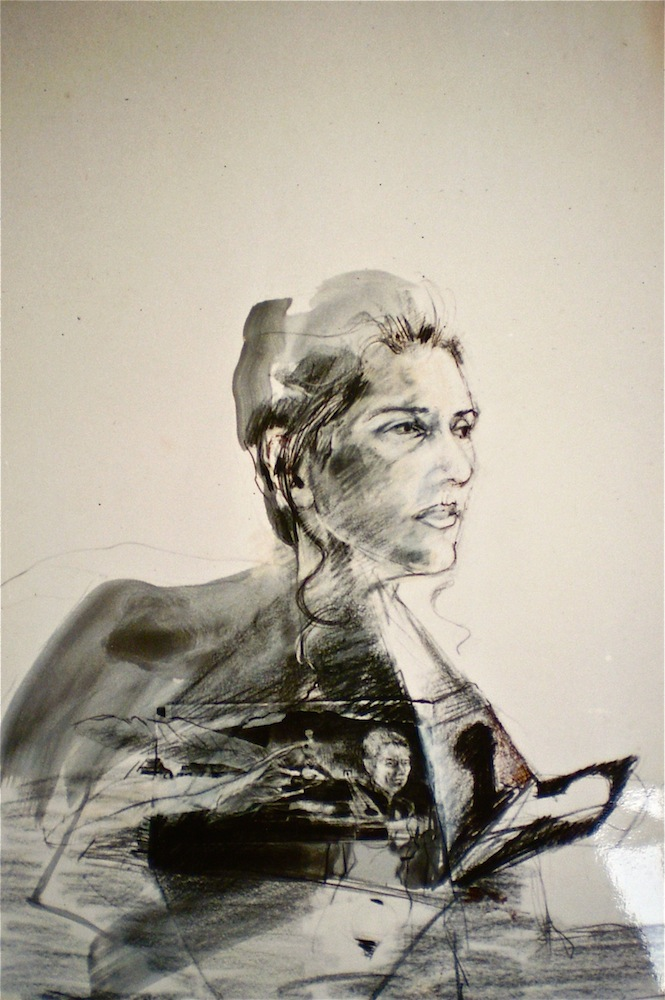 Study for Natalie, 1996, 98x66 cm, ink and wash