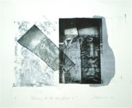 Return to the Sea Floor 2, 2010, intaglio and wash 16x20 print, 35x50 cm paper