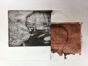 Etching and copper leaf  proof