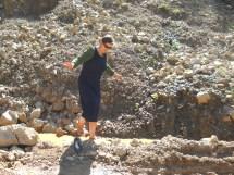 Feet Walking through Mud
