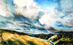 California Coastal Clouds, by Elaine Frenett