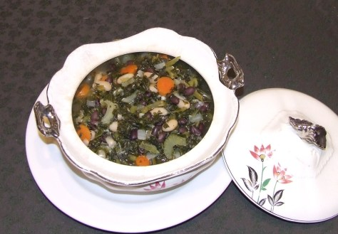 Two Bean and Kale Soup