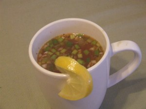 Spicy Vegetable Broth - Breakfast 2