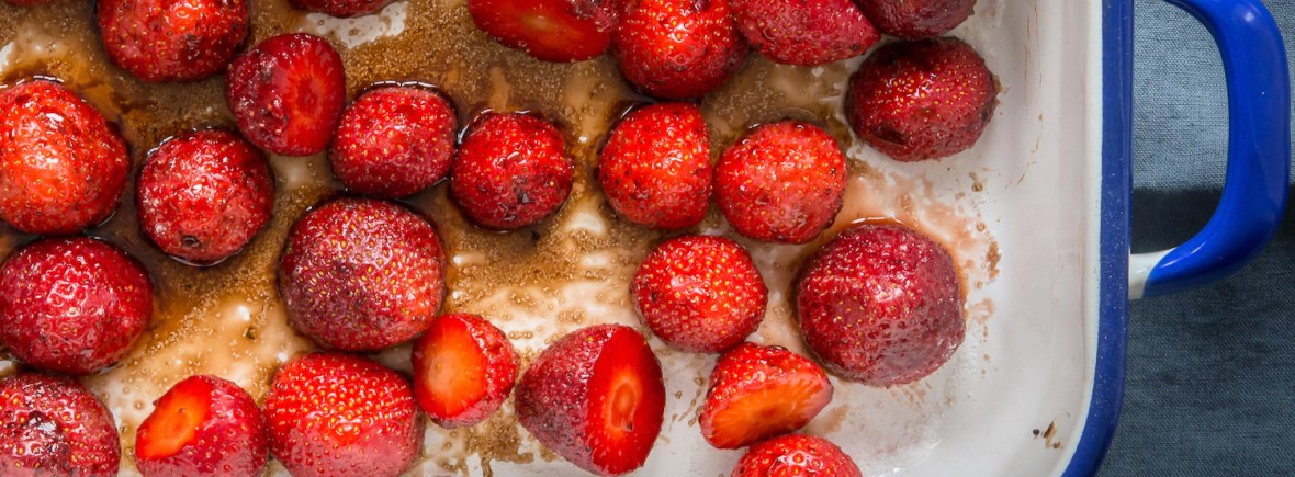 Roast Balsamic Strawberries Elaine Lemm