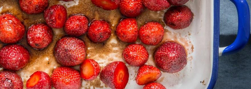 Roast Balsamic Strawberries Elaine Lemm