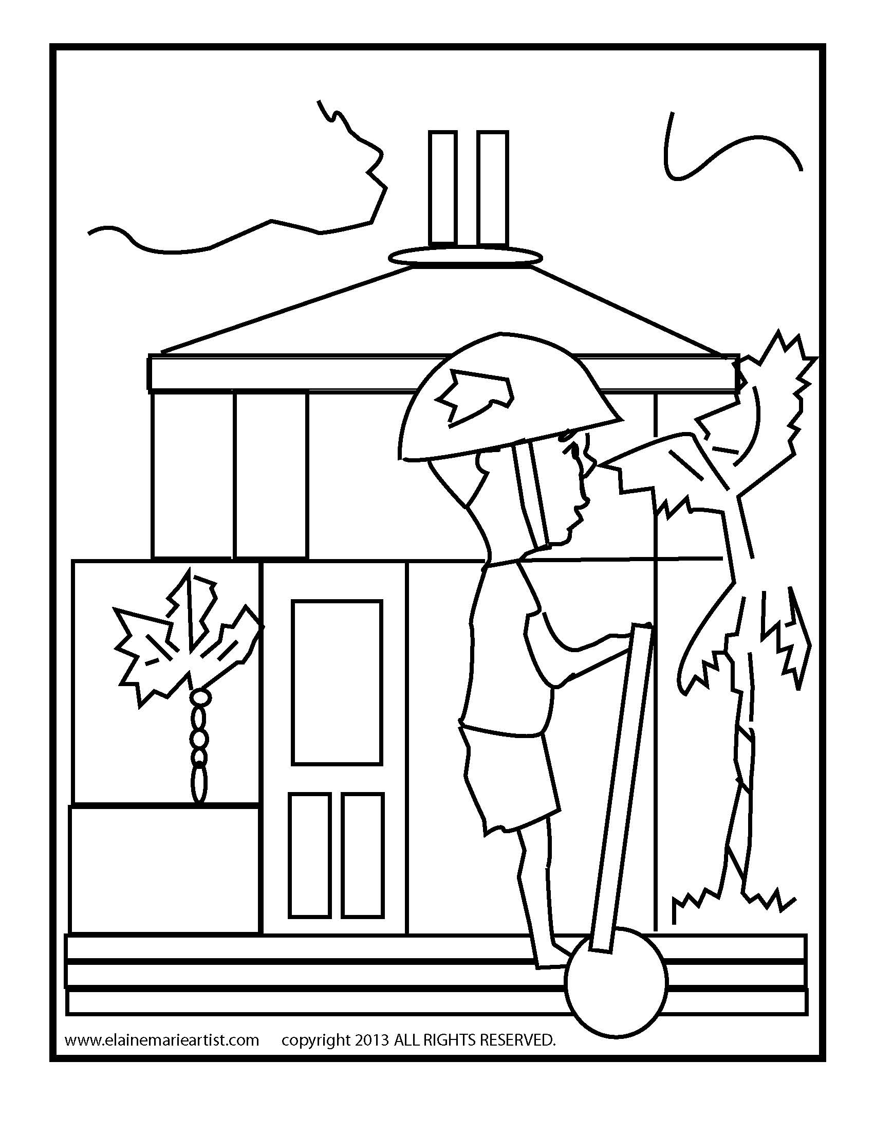 Mobile/post Office Building Coloring Coloring Pages