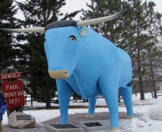 Babe the blue ox, Bemidji, Minnesota