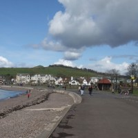 a short walk along the promenade in Largs
