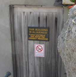 Backstage door at the Minack Theatre, Cornwall