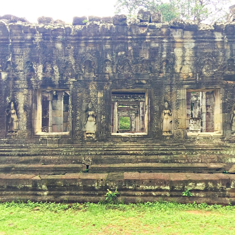 Interior of Bantey Srei. A lot of stone carving, each of it tells a story.