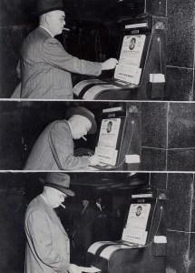 Insurograph machine. Floyd Bennett Field I think. 1946.
