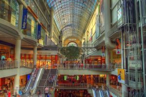 """Eaton Centre HDR style"" by Christopher Woo - Flickr. Licensed under CC BY 2.0 via Commons."