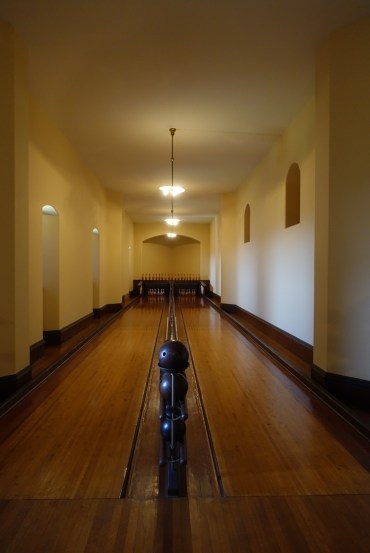 First bowling alley inside a home in America