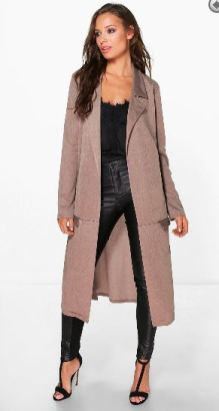 brown duster coat