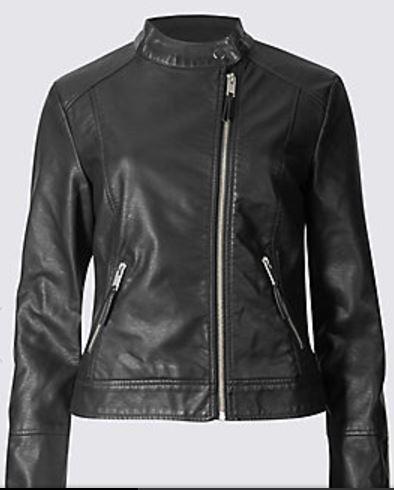 twin pocket moto jacket