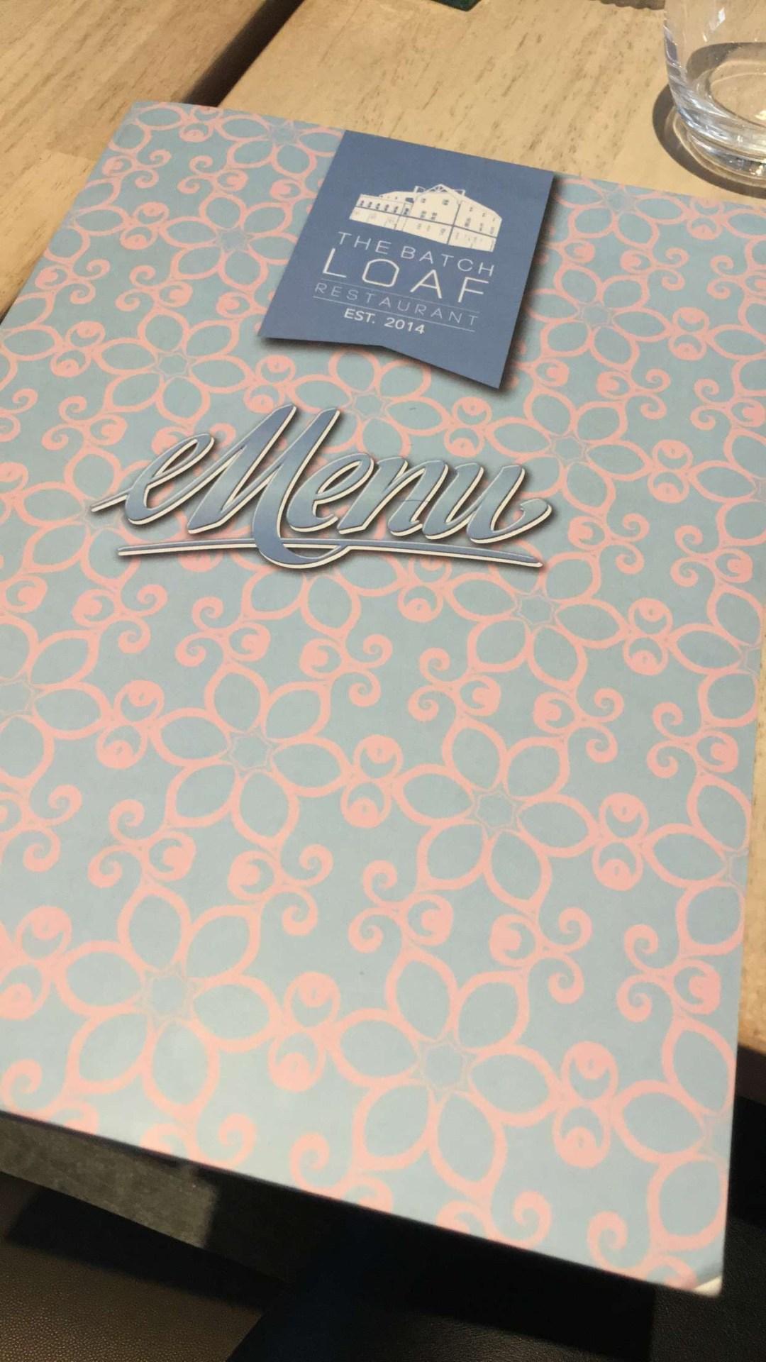 the batch loaf menu