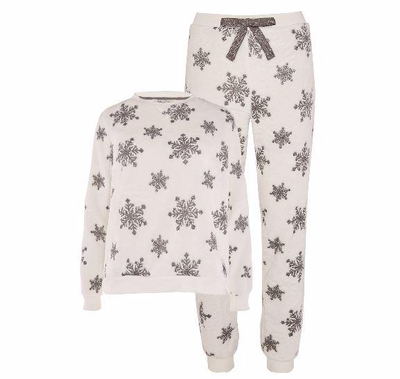 primark snowflake pyjamas