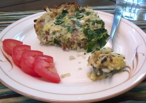 Breakfast for Dinner: Bacon and Kale Quiche