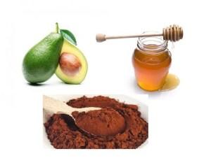 Mască hidratantă cu cacao, avocado și miere pentru un ten strălucitor