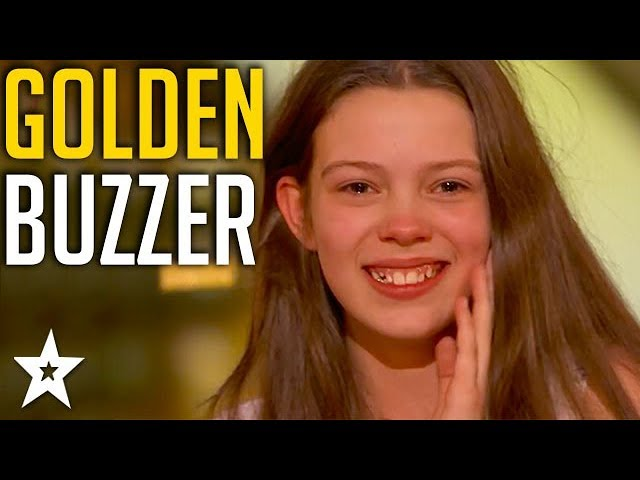 Singer 13 years old gets Howie's GOLDEN BUZZER 1