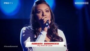 Adriana Simionescu la Vocea României 2019/Audiții-My Kind Of Love