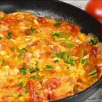 Omletă turcească sau Menemen: Un mic dejun consistent pentru toată lumea